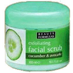 BeautyFormulas小黃瓜鱷梨臉部去角質